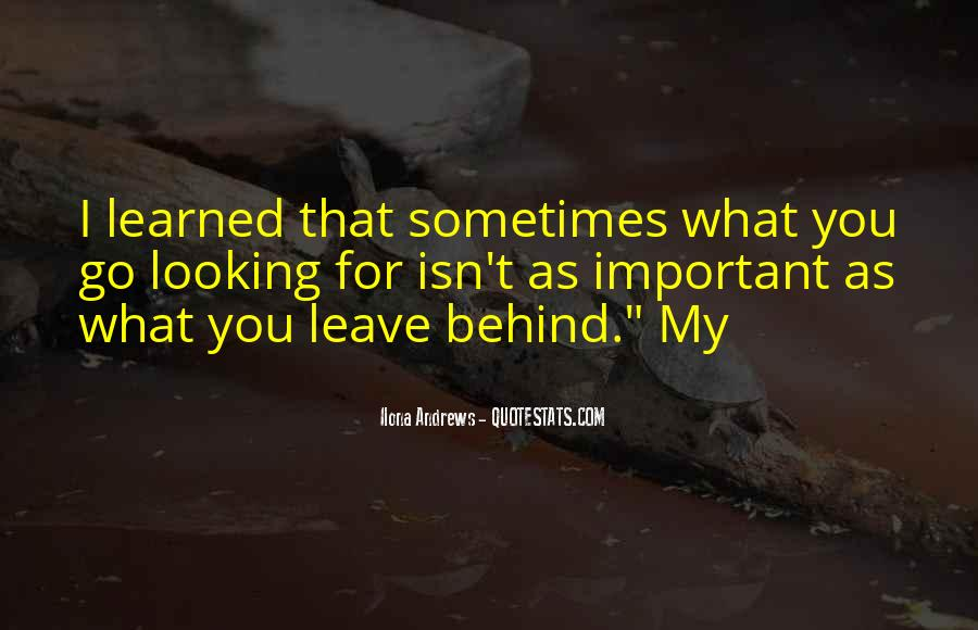 Looking Behind Quotes #309908