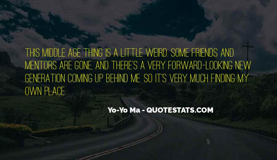 Looking Behind Quotes #368040