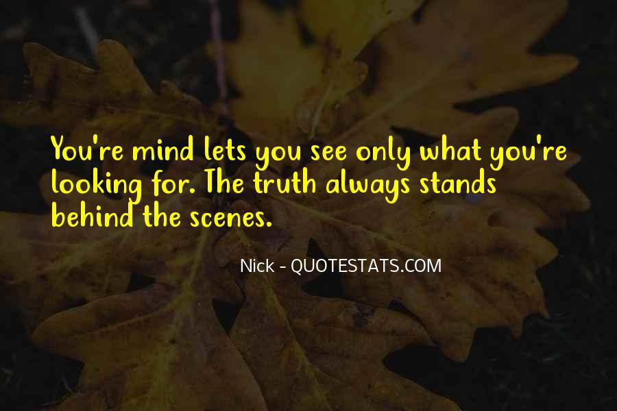 Looking Behind Quotes #506020