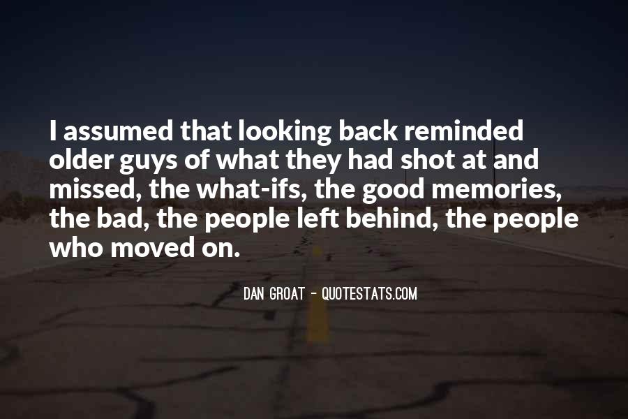 Looking Behind Quotes #780955
