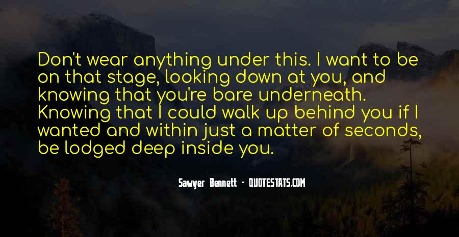 Looking Behind Quotes #837400