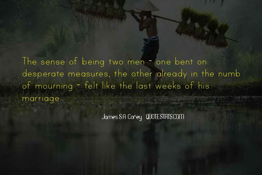 Quotes About Desperate Men #485947