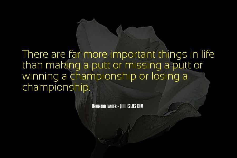 Losing Championship Quotes #694472