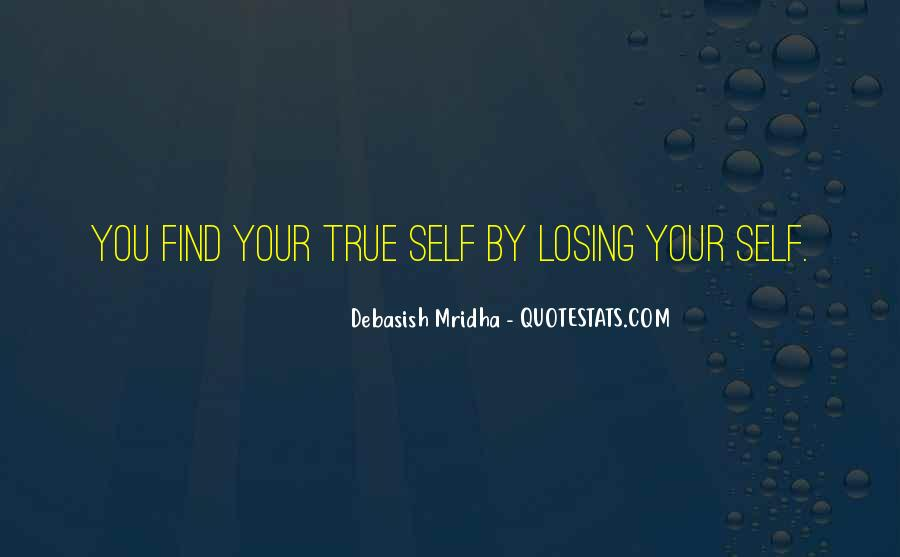 Losing Yourself To Find Yourself Quotes #700470