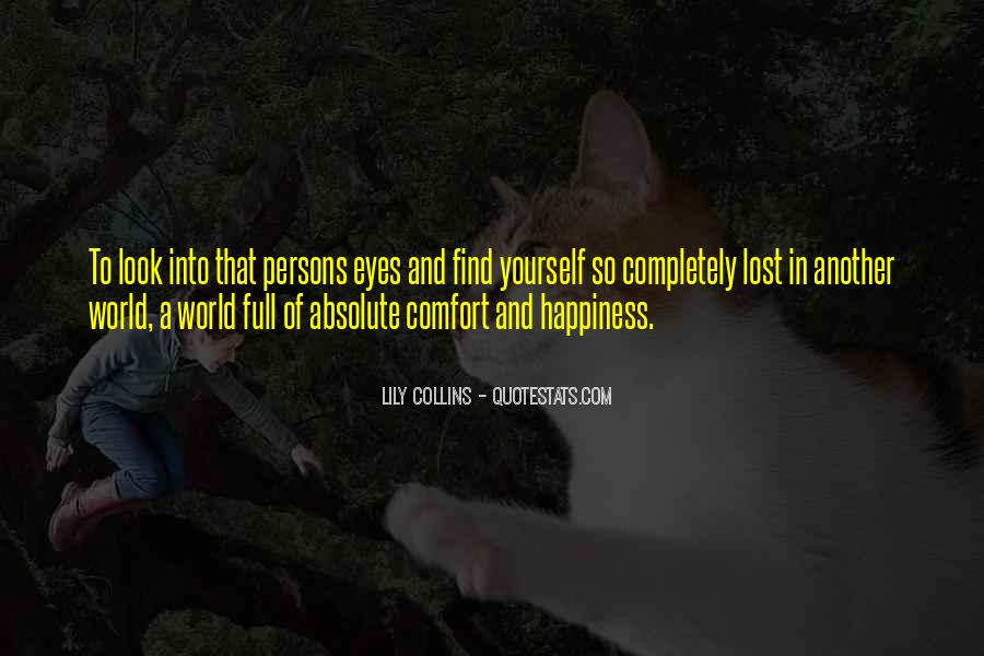 Lost In A World Quotes #18735