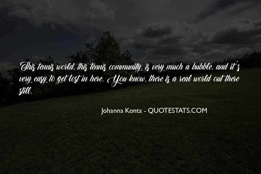Lost In A World Quotes #234662