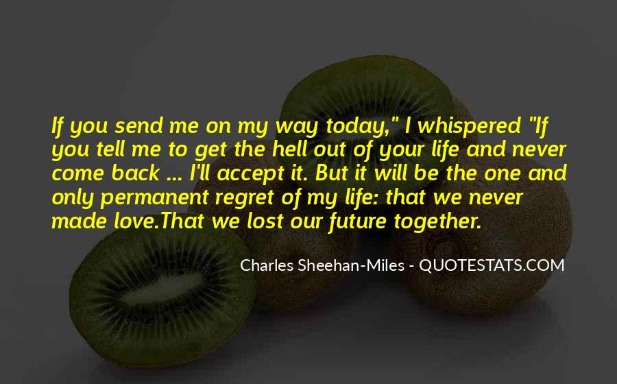Lost Love Back Quotes #1145407