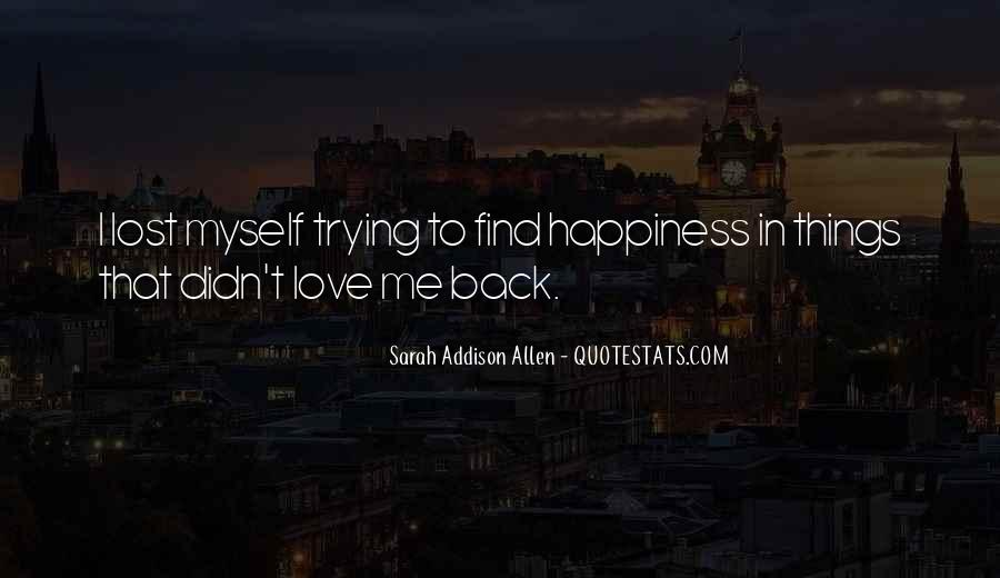 Lost Love Back Quotes #1215196
