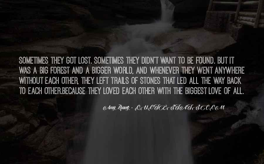 Lost Love Back Quotes #1285748