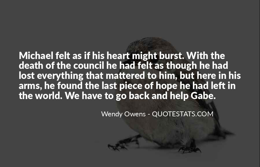 Lost Love Back Quotes #1312360