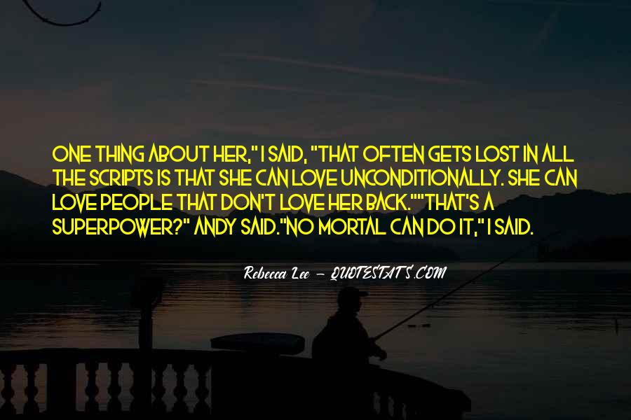 Lost Love Back Quotes #1369887