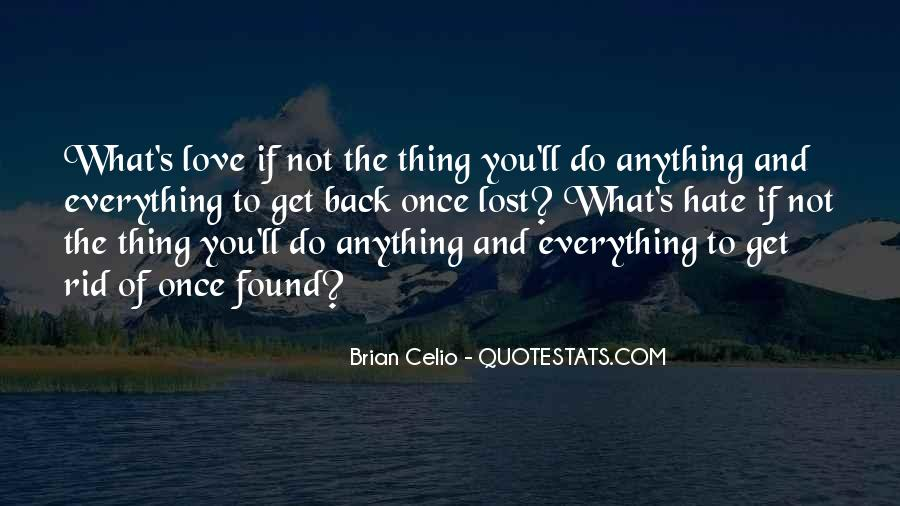 Lost Love Back Quotes #1560202