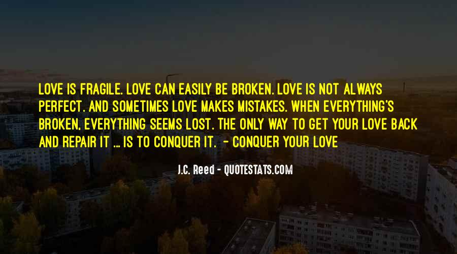 Lost Love Back Quotes #1780199
