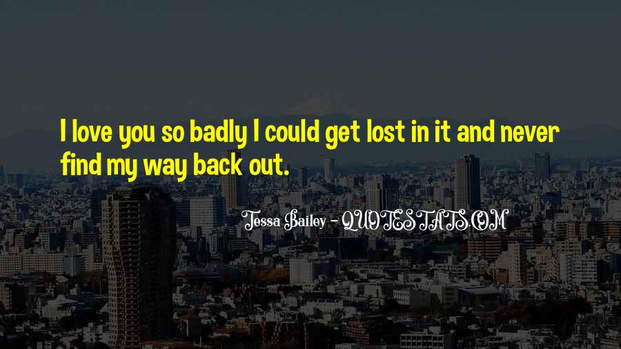 Lost Love Back Quotes #248835