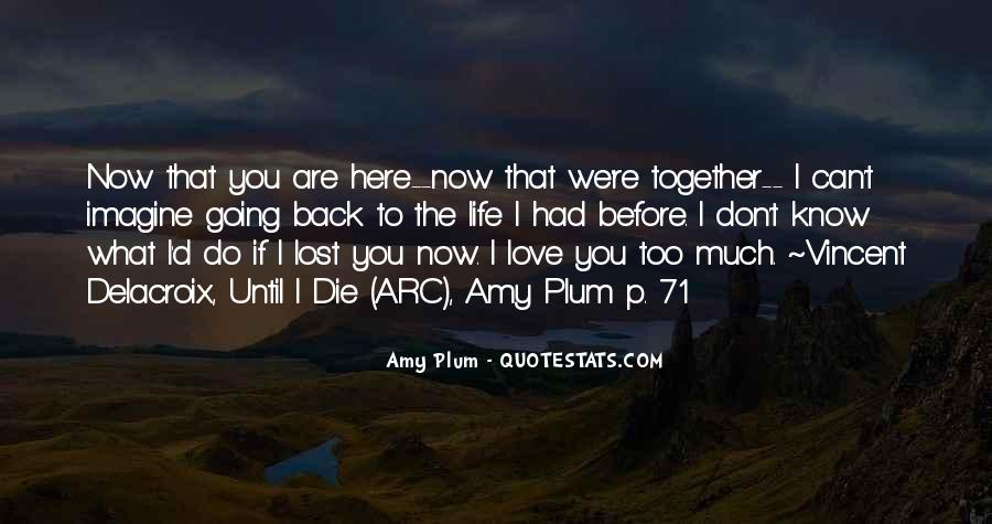 Lost Love Back Quotes #611462