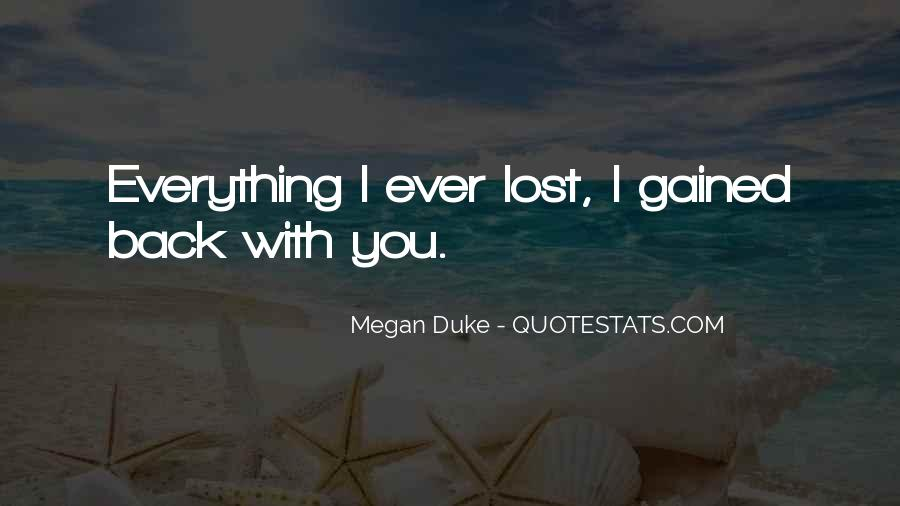 Lost Love Back Quotes #701524