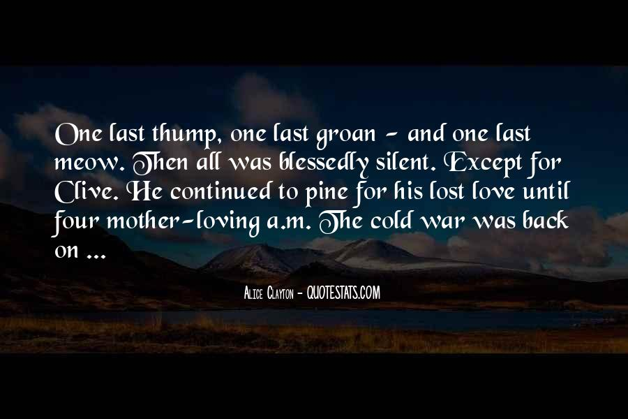 Lost Love Back Quotes #702454
