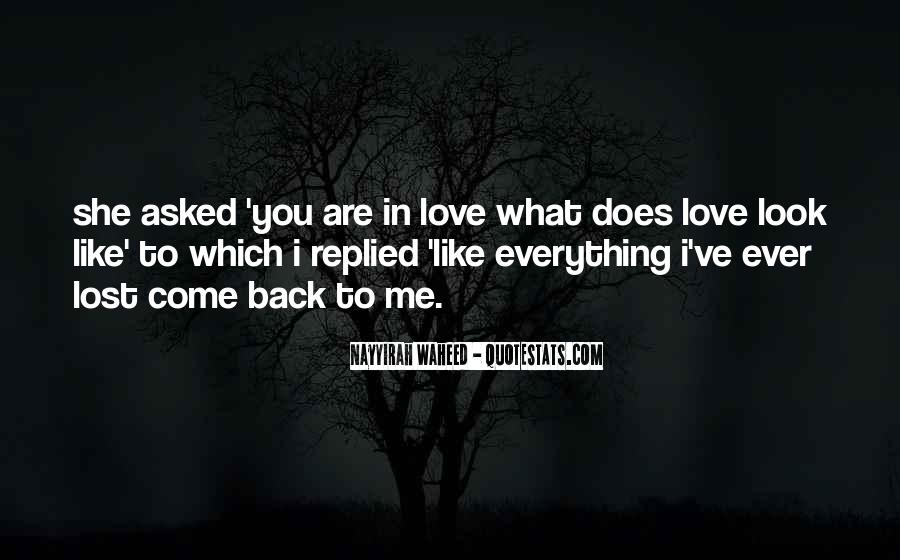 Lost Love Back Quotes #885646