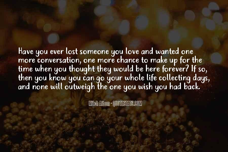 Lost Love Comes Back Quotes #281918