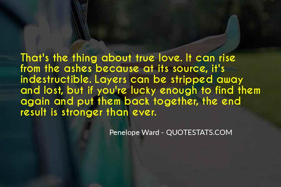 Lost Love Comes Back Quotes #37241