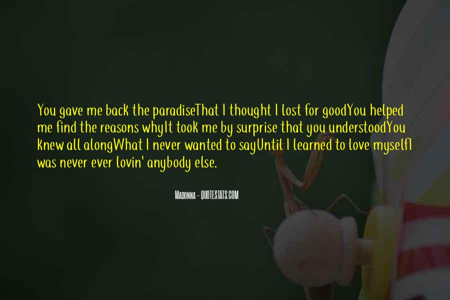 Lost Love Comes Back Quotes #822695