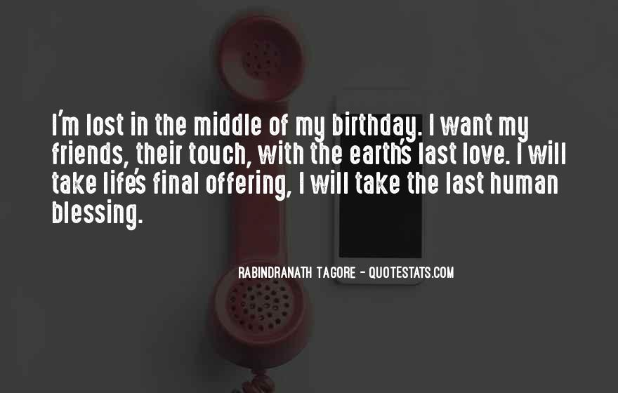 Lost Love One Birthday Quotes #1163105
