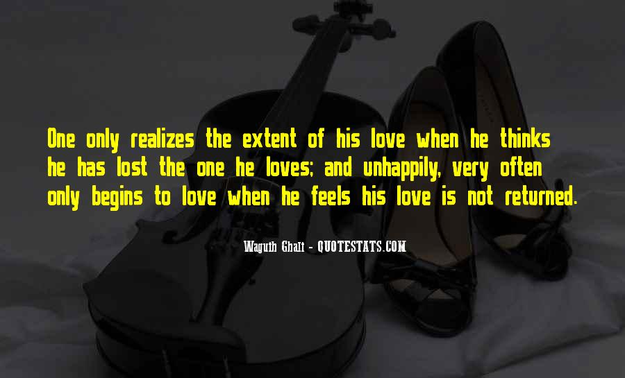 Lost Love Returned Quotes #1363240