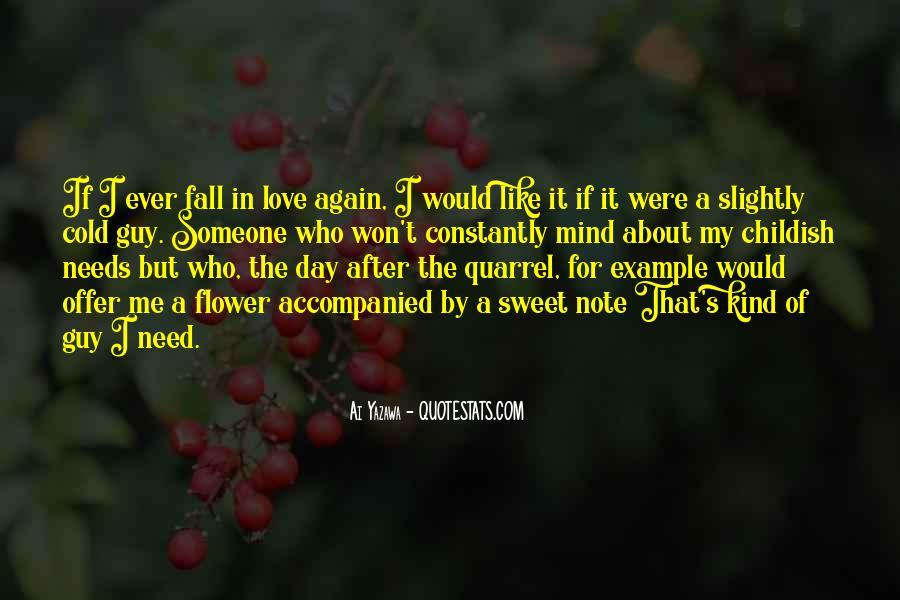 Love After Quarrel Quotes #1030842