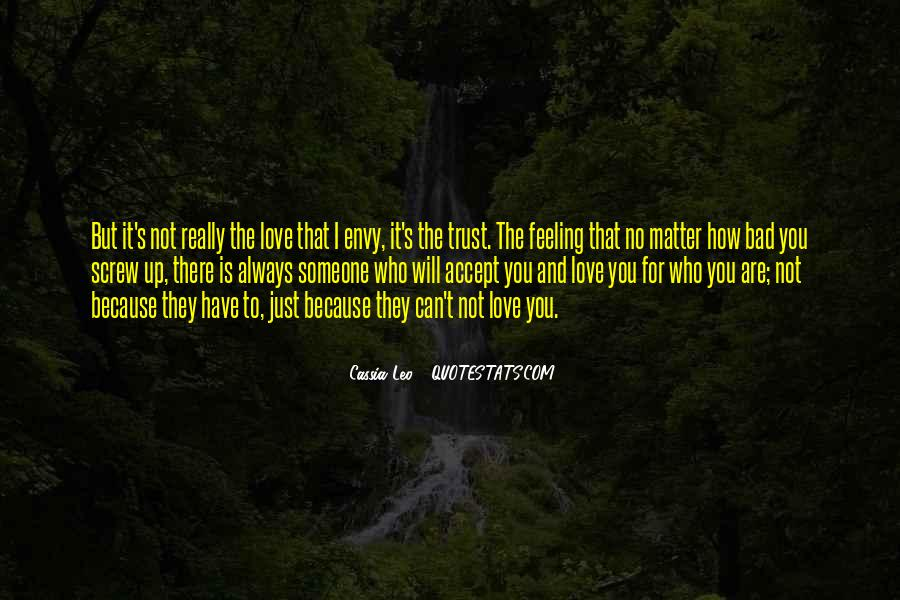 Love Bad Feeling Quotes #258749