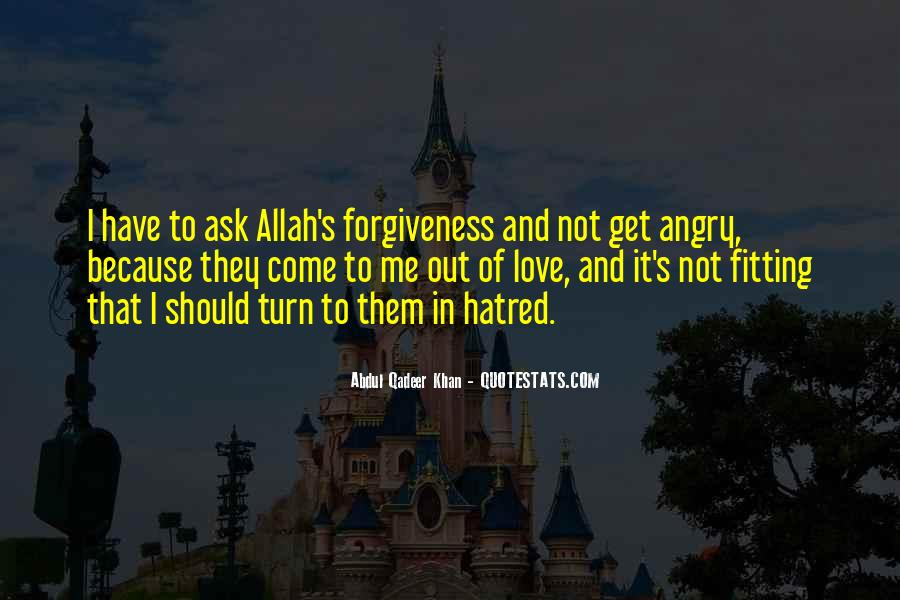 Love Because Allah Quotes #1341012