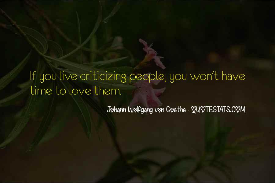 Love Criticize Quotes #165407