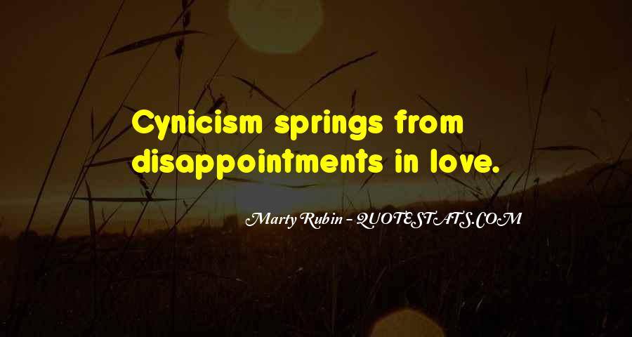 Love Cynicism Quotes #1515533