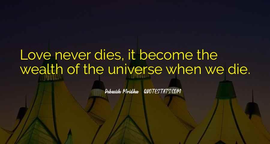 Love Dies Quotes #24575