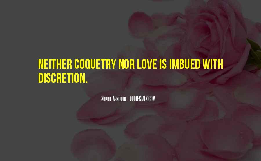 Love Discretion Quotes #1651726
