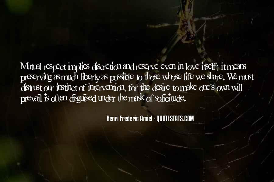 Love Discretion Quotes #1849297