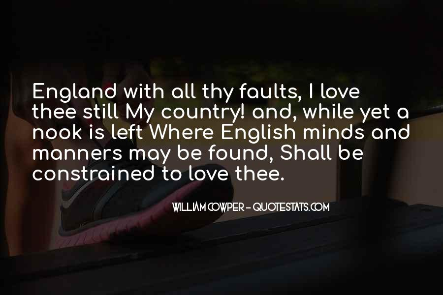 Love England Quotes #1664189