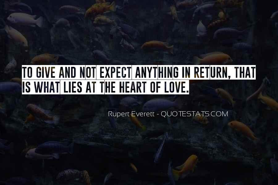 Love Expect Nothing In Return Quotes #16420