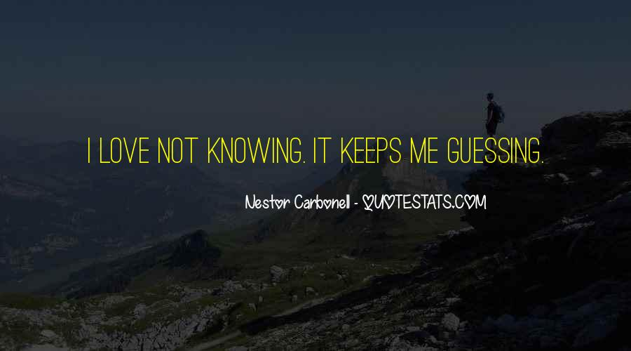 Love Guessing Quotes #1491409