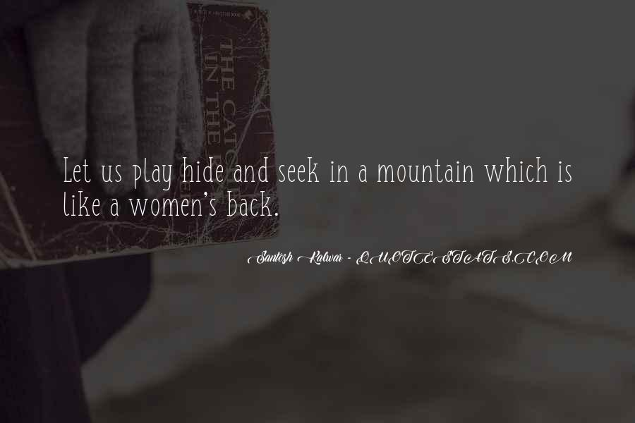Love Hide And Seek Quotes #1333219