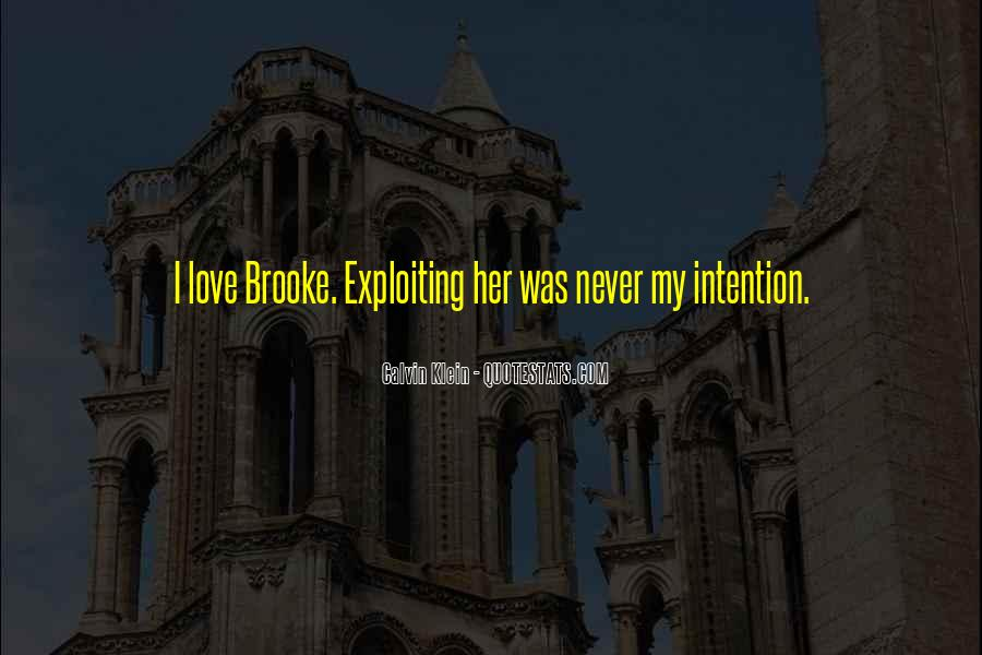 Love Intention Quotes #1427083