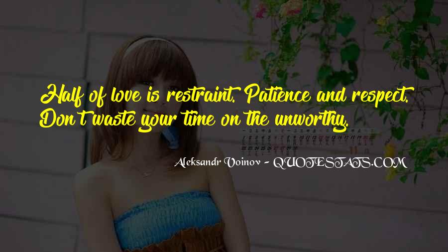 Love Is Such A Waste Of Time Quotes #132178