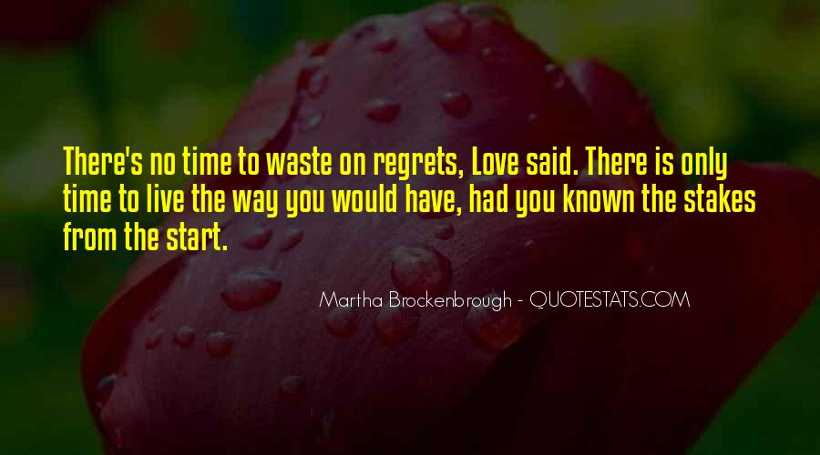 Love Is Such A Waste Of Time Quotes #279962
