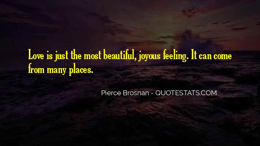 Love Is The Feeling Quotes #37782