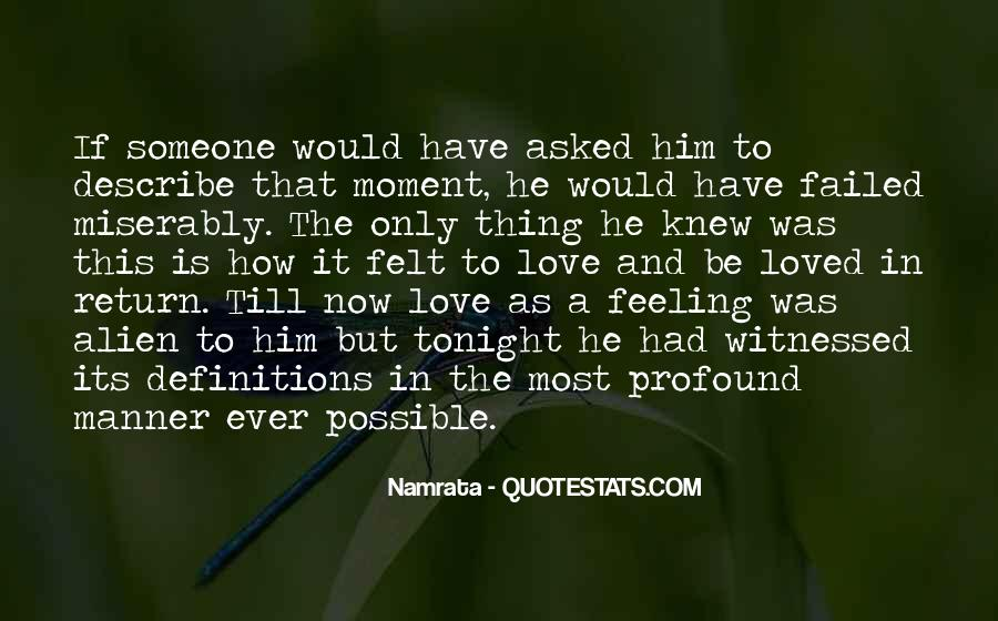 Love Is The Feeling Quotes #40251