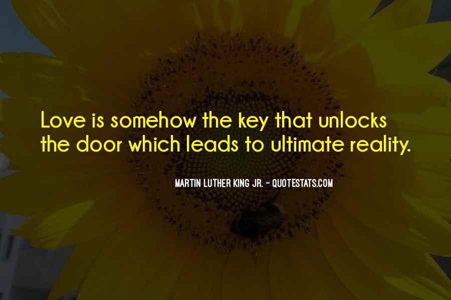 Love Is The Key Quotes #1171801