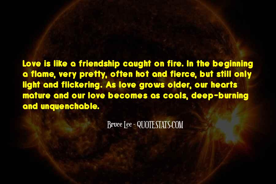 Love Like A Fire Quotes #1740188