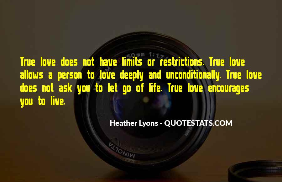 Love Me Without Restrictions Quotes #1113833