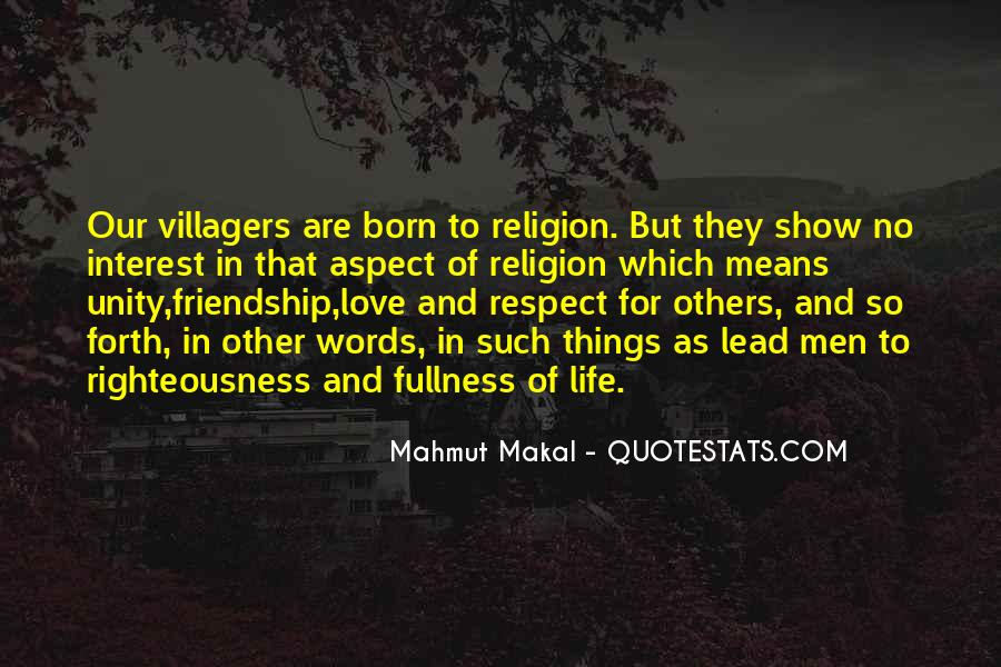 Love Means Respect Quotes #1704199