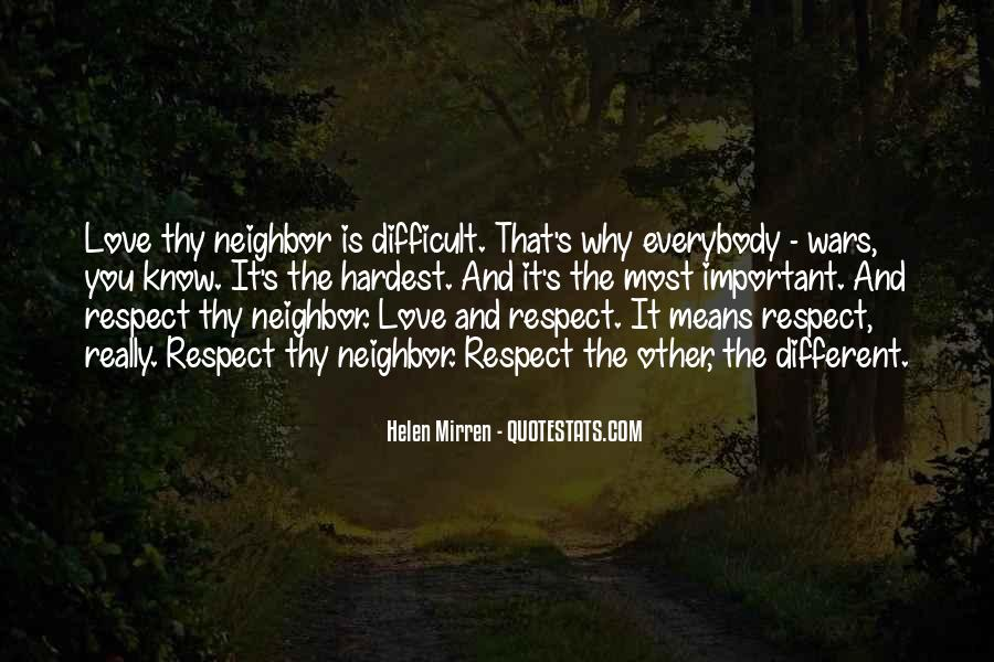 Love Means Respect Quotes #264264