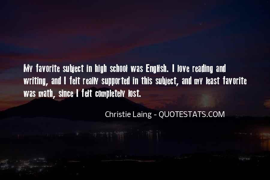 Love Of Reading And Writing Quotes #1258657